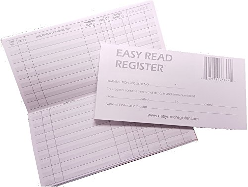 Easy Read Register Checkbook Transaction Registers 2016-2017-2018 Calendars, Pack of 5 (Check Book Transaction Register compare prices)