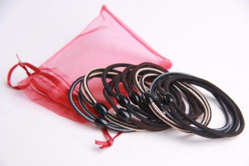 WittyGirl (TM) Bueatiful Hair Ribbon Mix Colored 8pcs Set 4 Colors Coffee/Black/Gray/Beige