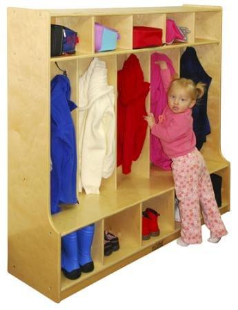 Ecr4kids 5 Section Kids Room Multi Purpose Coat And Dress
