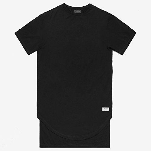 STAMPD スタンプド DOUBLE LAYER SCALLOP TEE 3色 ダブルレイヤー Tシャツ [正規代理店商品] (M, BLACK)