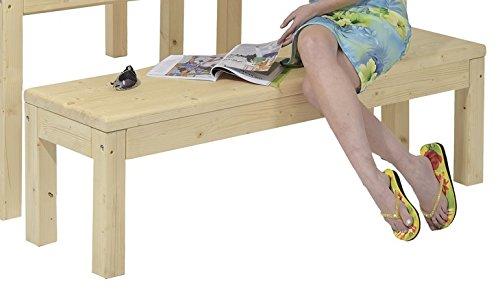 Gartenbank Holzbank Gartenmöbel Sitzbank Bank ohne Rückenlehne (192×40.5×46 Fichte impraegniert) günstig bestellen