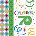 Celebrate in Style 70th Birthday 3-Ply Beverage Napkins 16 per Pack