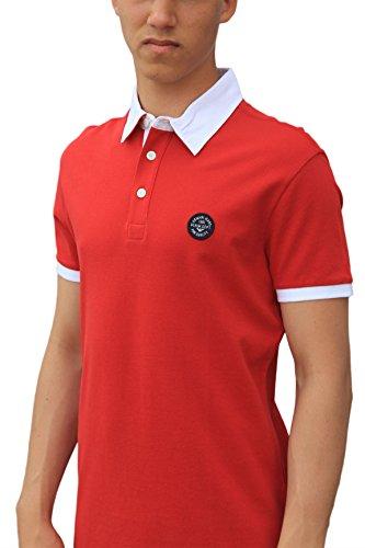 Armani Jeans Design-Maglietta Polo con Logo rosso  rosso M