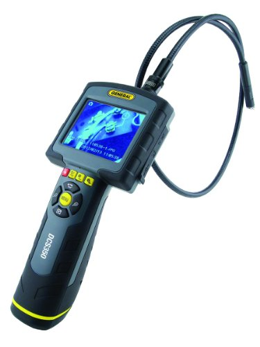General Tools DCS350 Seeker Ruggedized Video Inspection System with 3.5-Inch Color Monitor Voice Annotation and a 12-mm Diameter Probe 39-Inch Long