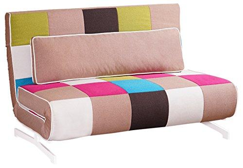 Tuoni Super Divano Letto, Tessuto, Multicolore, 140x75x88 cm