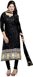 RADHE STUDIO Women's Cotton Un-Stitched Salwar Suit (RSOM YOUR 16001, Black)