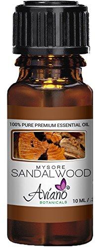 Indian Mysore Sandalwood Essential Oil, 100% Pure, Undiluted, Therapeutic Grade Sandalwood Oil By Avíanō Botanicals - 10ml