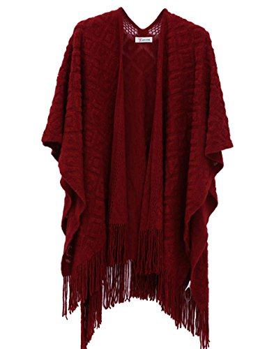 Soul Young Women's Winter Knitted Cashmere Blanket Kimono Poncho Cape Shawl Wrap (Young Womens Clothing compare prices)