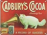 FRENCH VINTAGE METAL SIGN 20x15cm RETRO AD CADBURY'S COCOA CAT CHOCOLATE