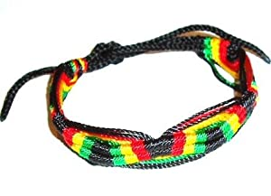 Rasta / Hippie / Reggae Cotton Bracelet / Wristband / Wrist Tie - 100% Cotton