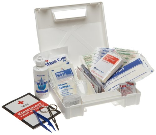 First Aid Only 25 Person Bulk First Aid Kit, 107-Piece Kit kitcox70427fao4001 value kit first aid only inc alcohol cleansing pads fao4001 and glad forceflex tall kitchen drawstring bags cox70427