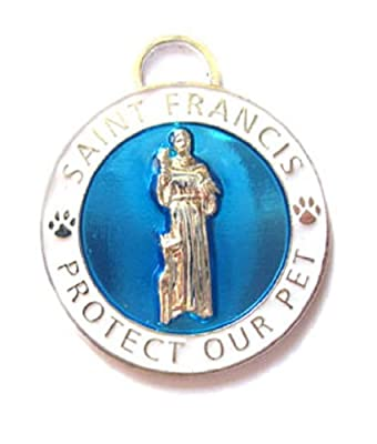 Luxepets St Francis Charm Large, Blue