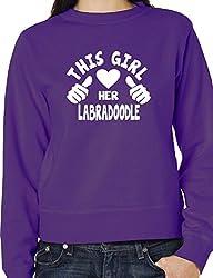 This Girl Loves Her Labradoodle Dog Ladies Unisex Sweatshirt Size S-XXL