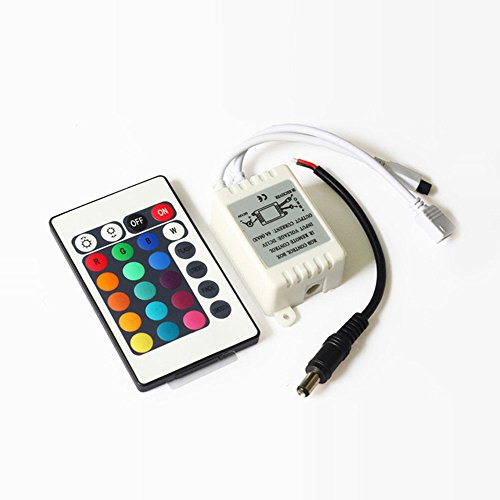 Arlybaba 24Key Ir Remote Controller Supply Voltage Dc 9V For Rgb Led Light Strip, Led Flexible Strip