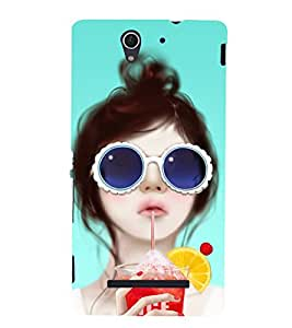 BEAUTIFUL GIRL Designer Back Case Cover for Sony Xperia C3 Dual D2502::Sony Xperia C3 D2533