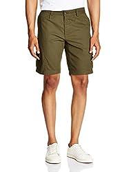 Basics Men's Cotton Shorts (8907054578382_14BSS32070_Green_32)