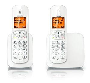 """Philips CD2802W, 50 entradas, GAP, FSTN, Ámbar, 4.57 cm (1.8 """"), Blanco [importado de Alemania]"""