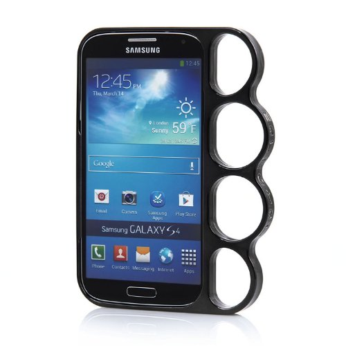Black New Samsung Galaxy S4 SIV I9500 Durable Knuckle Bumper Smooth Case Cover Deluxe
