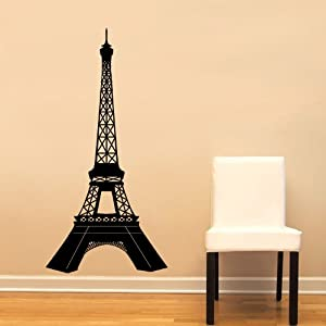 Paris Eiffel Tower Detailed Large Wall Decal
