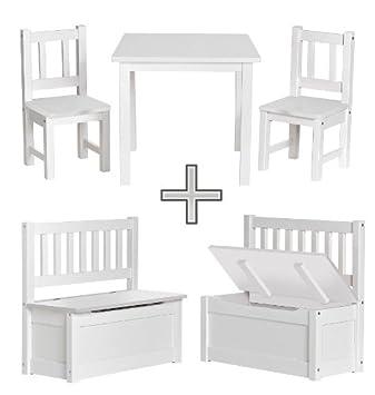 impag kindersitzgruppe mit kindertruhenbank inkl feststellmechanismus emma aus kiefer. Black Bedroom Furniture Sets. Home Design Ideas