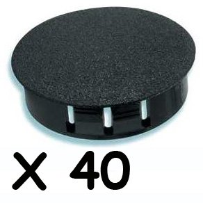 "Swingset Playground Safety Cap, Prevent Hardware To Be Exposed To Children, Prolong Hardware Life. All You Need Is 1"" Hole By 1/2 Deep To Get Your Jungle Gym Or Playset Safe (Black Pack Of 40) front-237397"