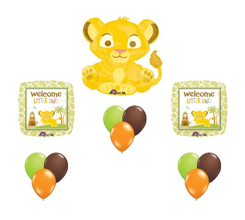 Lion King Simba Baby Shower Party Supplies Balloons Decor Bouquet