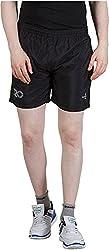 GOOD LUCK U.S.A Men's Polyester Shorts (S-0002A, BLACK, XXL)