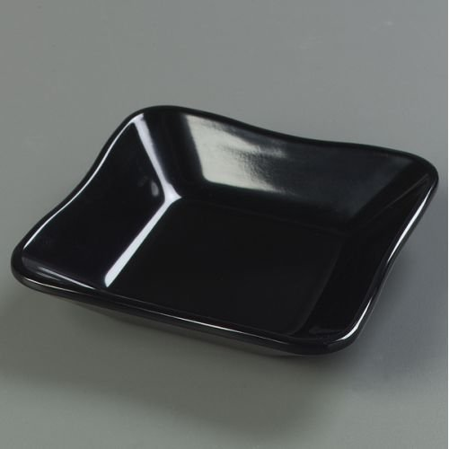 Carlisle (793403) Square Scalloped Dish/inset 5-1/2-inch Black By Food Service Warehouse