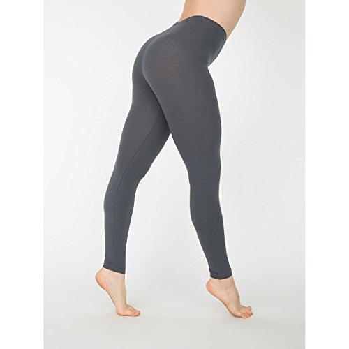 american-apparel-womens-ladies-cotton-spandex-jersey-leggings-m-asphalt