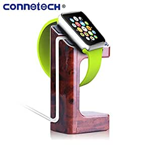 Connetech®apple Watch Stand Holds-new Stylish Plastic with Charger Cord Iwatch Charging Stand Bracket Docking Station Holder-for 2015 Apple Watch Compatible with Both Models 38mm and 42mm. (Walnut Color)