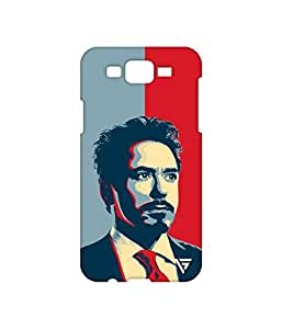 Vogueshell Iron Man Printed Symmetry PRO Series Hard Back Case for Samsung Galaxy J7
