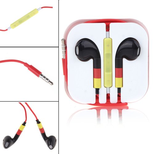 World Cup Earphones Headphones With Remote For Apple Ipad Iphone 5