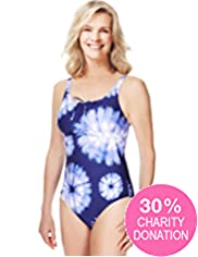 Fashion Targets Post Surgery Tie Dye Swimsuit