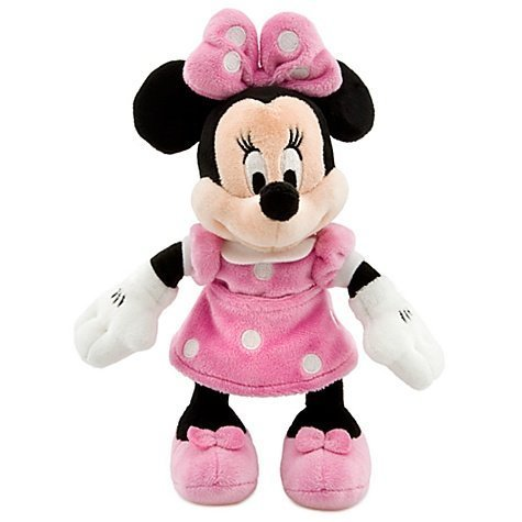 Mini Bean Bag Pink Dress Minnie Mouse Plush Toy -- 9 1/4'' H - 1