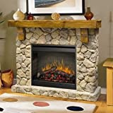 Dimplex SMP-904-ST Fieldstone Pine and Stone-look Electric Fireplace Mantel
