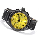 Android AD445BY Men's Stealth Swiss Chronograph Black Band with Yellow Dial Watch