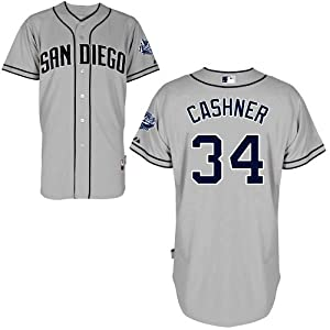 Andrew Cashner San Diego Padres Road Authentic Cool Base Jersey by Majestic by Majestic
