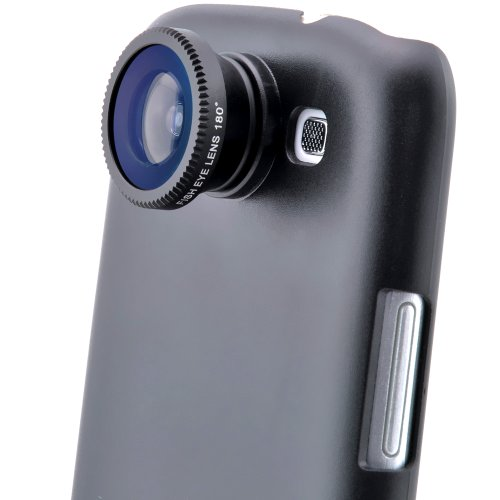 Patuoxun Fisheye Camera Fish Eye Lens Kit for Samsung Galaxy S3 SIII i9300 GT-i9300 DC195 with Black Back Cover Case