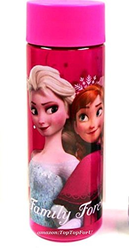 Disney Frozen Anna Elsa Olaf Tritan Water Bottle front-120097