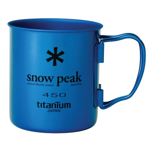 Snow Peak Ti Single Wall 450 Mug, Fresh Water Blue (Snow Peak 450 compare prices)