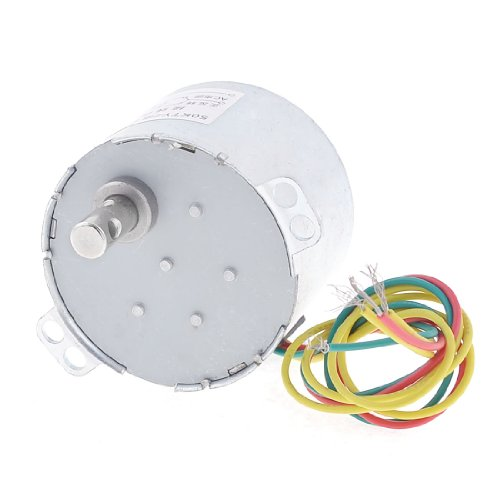 Silver Tone Metal Housing 1.5Rpm Fan Synchronous Motor Ac 220V 6W