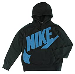 Nike Mens AW77 Fleece Pullover Hoodie Black XL