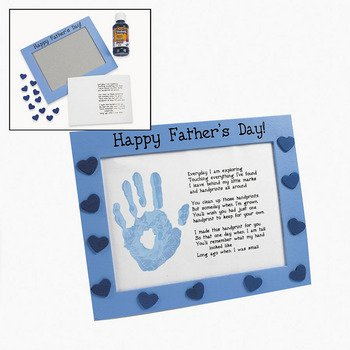Wooden Fathers Day Handprint Frame Craft Kit Crafts For Kids Novelty Crafts