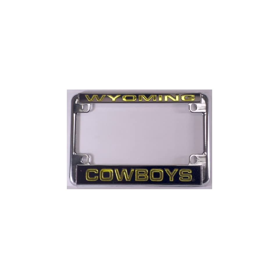 University of Wyoming Cowboys Chrome Motorcycle License Plate Frame