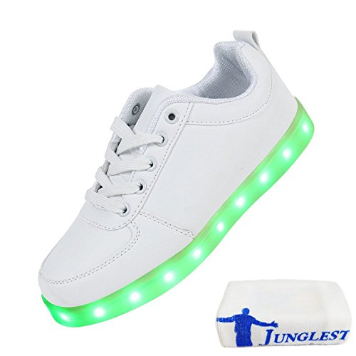 presentepequena-toallablanco-blanc-low-cut-eu-34-7-de-zapatillas-junglestr-luces-negro-de-led-blanco