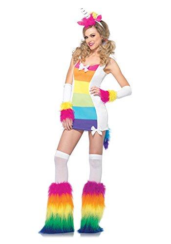 Women's 3 Piece Magical Unicorn Costume, Multicolor