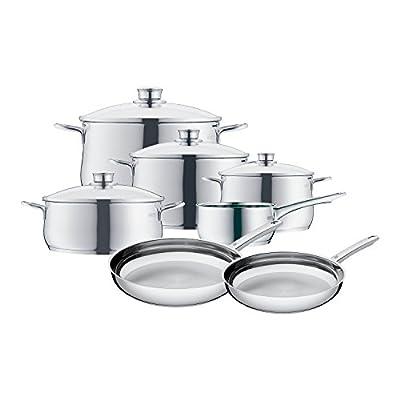 WMF 07 3057 6040 11-Piece Diadem Cookware Set, Silver