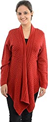 Apsley Women's Acrylic Shrug (663 red_M, Red, M)