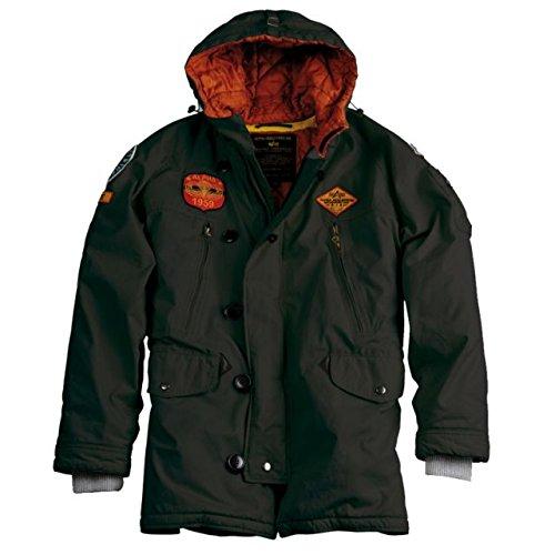 Alpha Ind. Jacke Airborne Hood Parka- greyblack jetzt bestellen