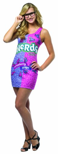 Rasta Imposta Nerds Tank Dress, Pink/Purple, Teen